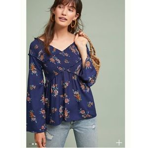 Anthropologie Rachael Off-The-Shoulder Blouse